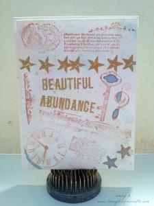 Beautiful abundance clock